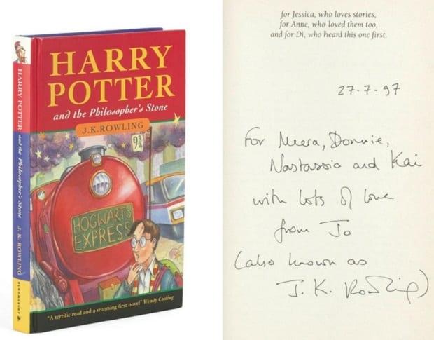 Potterish :: Harry Potter, o Ickabog, Animais Fantásticos e JK Rowling 1ª edição de Harry Potter e a Pedra Filosofal assinada por J.K. Rowling é vendida por mais de R$400 mil