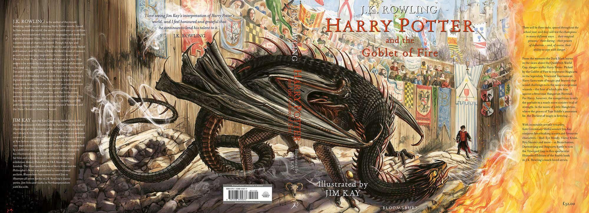 Potterish :: Harry Potter, o Ickabog, Animais Fantásticos e JK Rowling Edição ilustrada de O Cálice de Fogo ganha capa