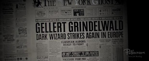 As ações de Gridewald foram notadas na América
