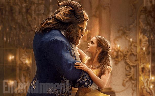Dan Stevens (Beast) and Emma Watson (Bela)