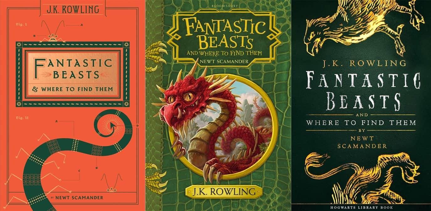 Capas das novas edições de Animais Fantásticos