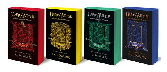 Editora britânica lançará edições das casas de Hogwarts para toda a série Harry Potter