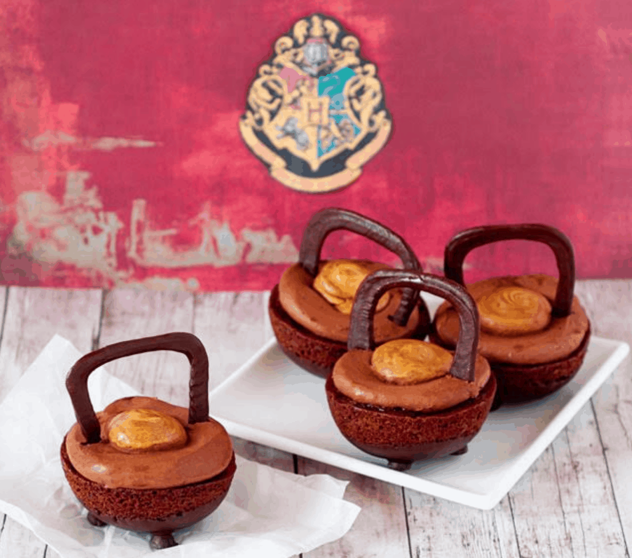 Caldeirões de chocolate de Harry Potter.