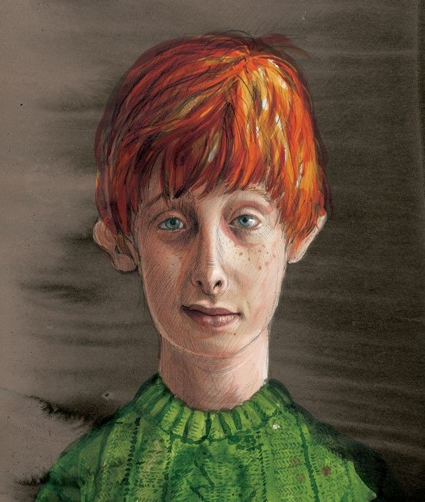 Rony Weasley por Jim Kay