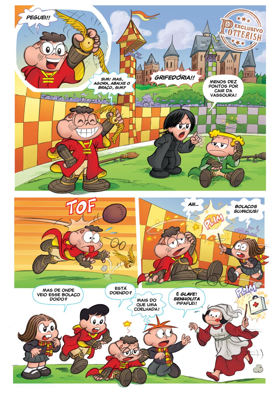 Potterish :: Harry Potter, o Ickabog, Animais Fantásticos e JK Rowling Quando a Turma da Mônica foi para Hogwarts