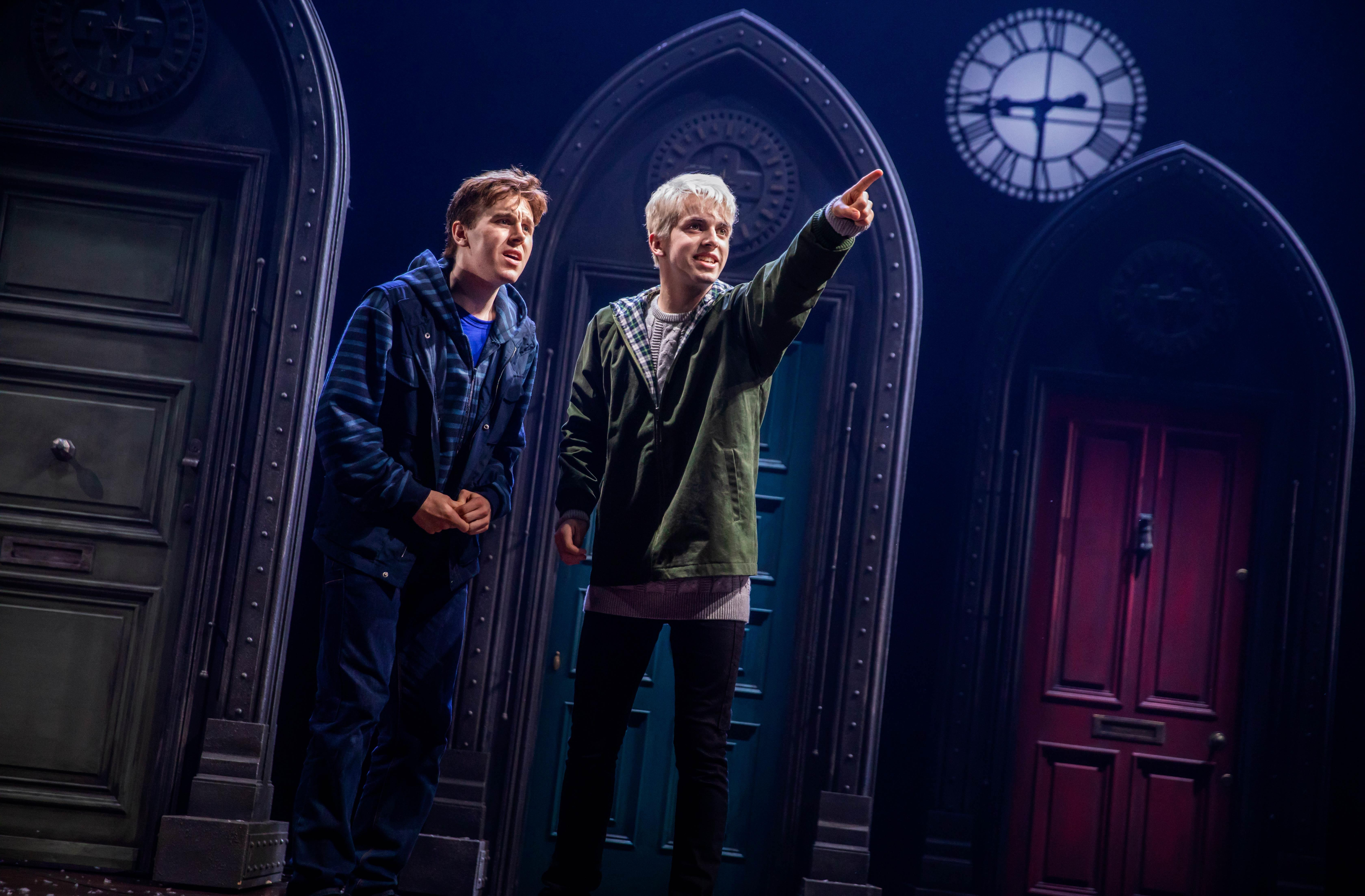 Potterish.com [Year 18] :: Harry Potter, The Ickabog, Fantastic Beasts, JK Rowling, Daniel, Emma & Rupert Albus and Scorpius try to solve problems with the Time Turner in a new picture of Cursed Child