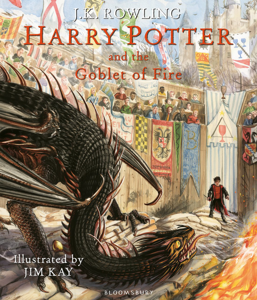 Potterish.com [Year 18] :: Harry Potter, The Ickabog, Fantastic Beasts, JK Rowling, Daniel, Emma & Rupert Illustrated edition of The Goblet of Fire gets cover