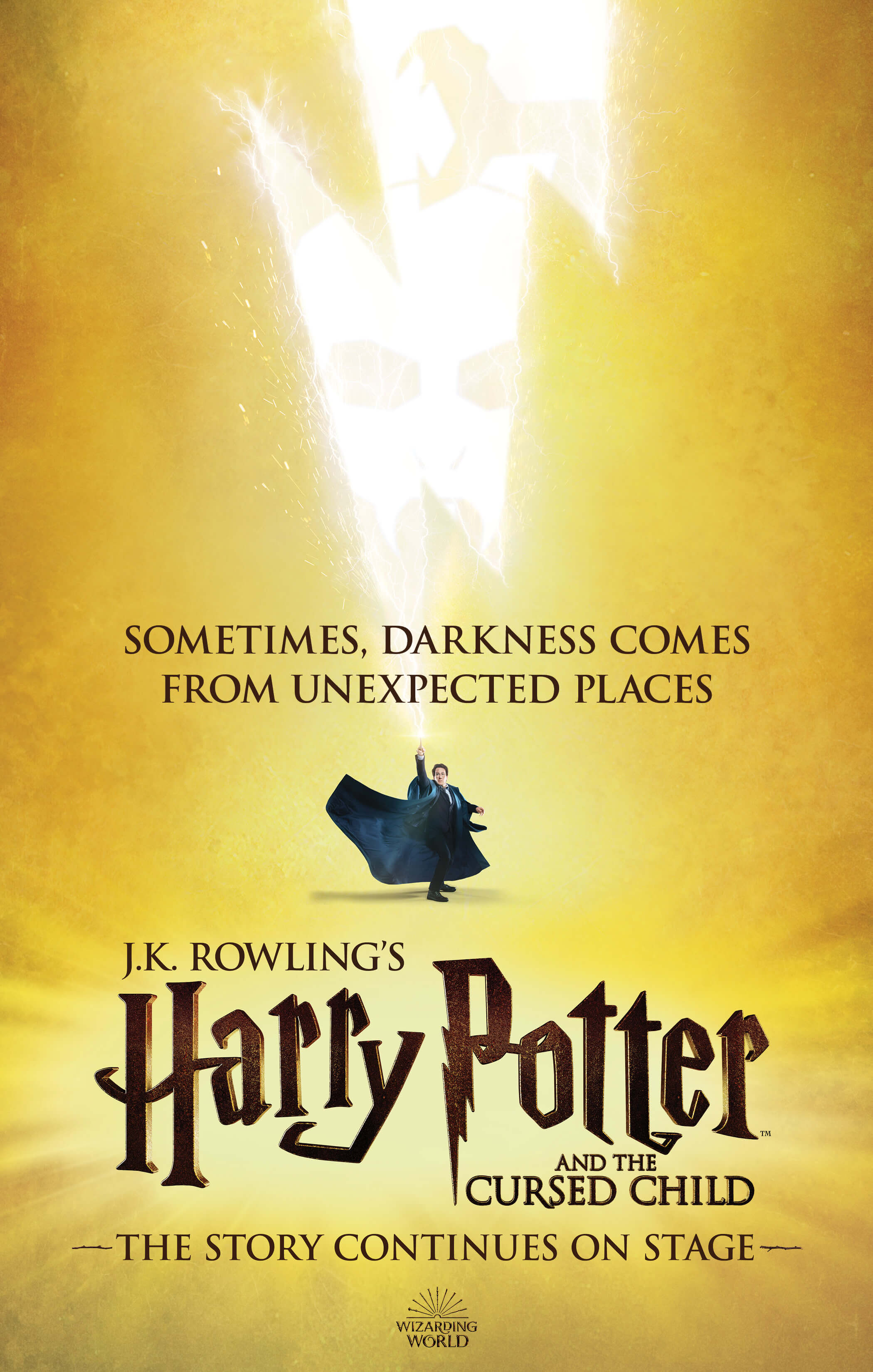 Potterish.com [Year 18] :: Harry Potter, The Ickabog, Fantastic Beasts, JK Rowling, Daniel, Emma & Rupert The Cursed Child surprise: a new poster released at Times Square
