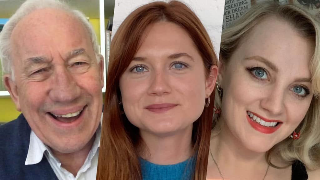 Simon Callow, Bonnie Wright e Evanna Lynch leem Harry Potter