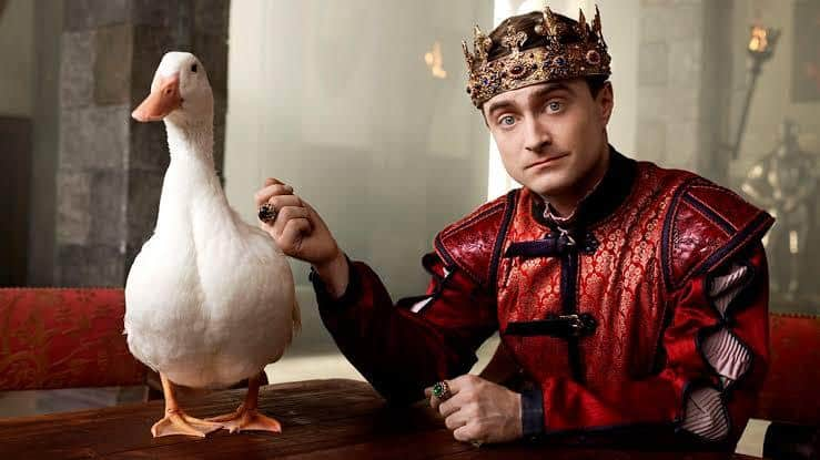 Radcliffe in Miracle Workers, comedy series where he portrays an angel who tries to convince God to not destroy the Earth