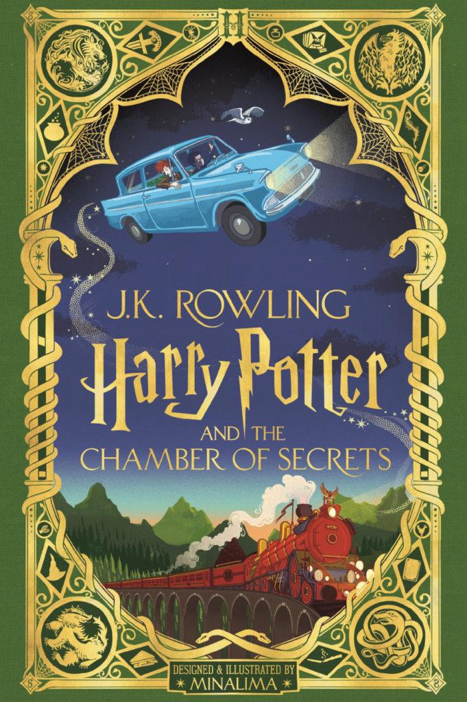 Capa de Harry Potter e a Câmara Secreta, do estúdio MinaLima
