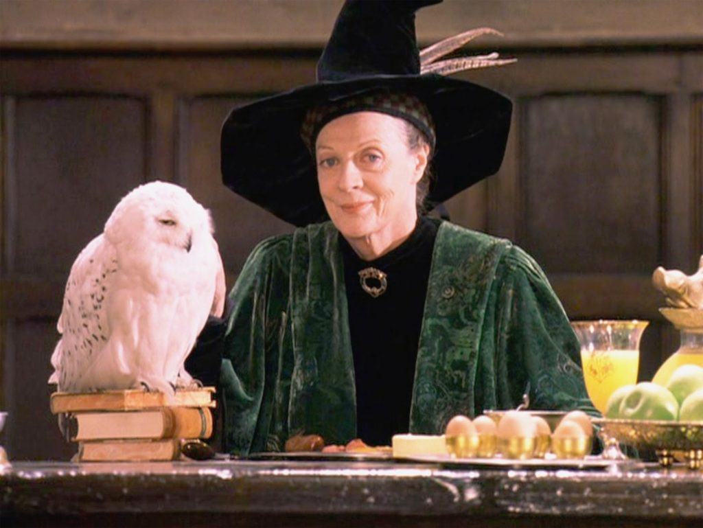 A diretora da Grifinória, Minerva McGonagall